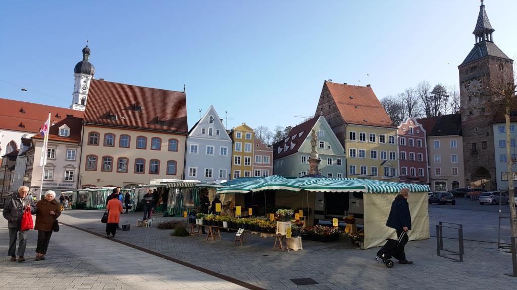 Wochenmarkt in Landsberg am Lech