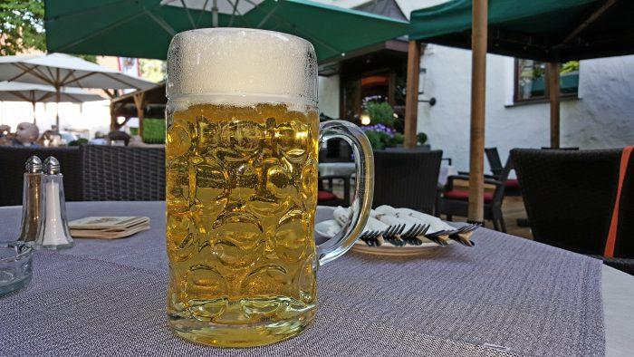 Brauereigasthof Fuchs in Steppach bei Augsburg: Für eine Brotzeit beim Radeln reicht's