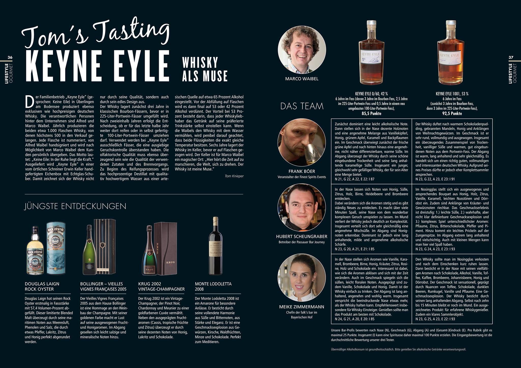 Thomas Knieper: Das neue KIR München mit dem aktuellen Tasting ist erschienen. Dieses Mal wurde der deutsche Bodensee-Whisky Keyne Eyle ausführlich bewertet.