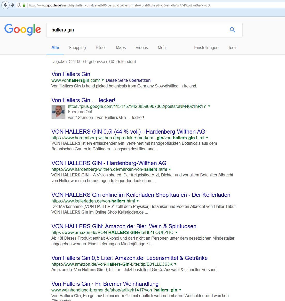 Platz 2 auf Google