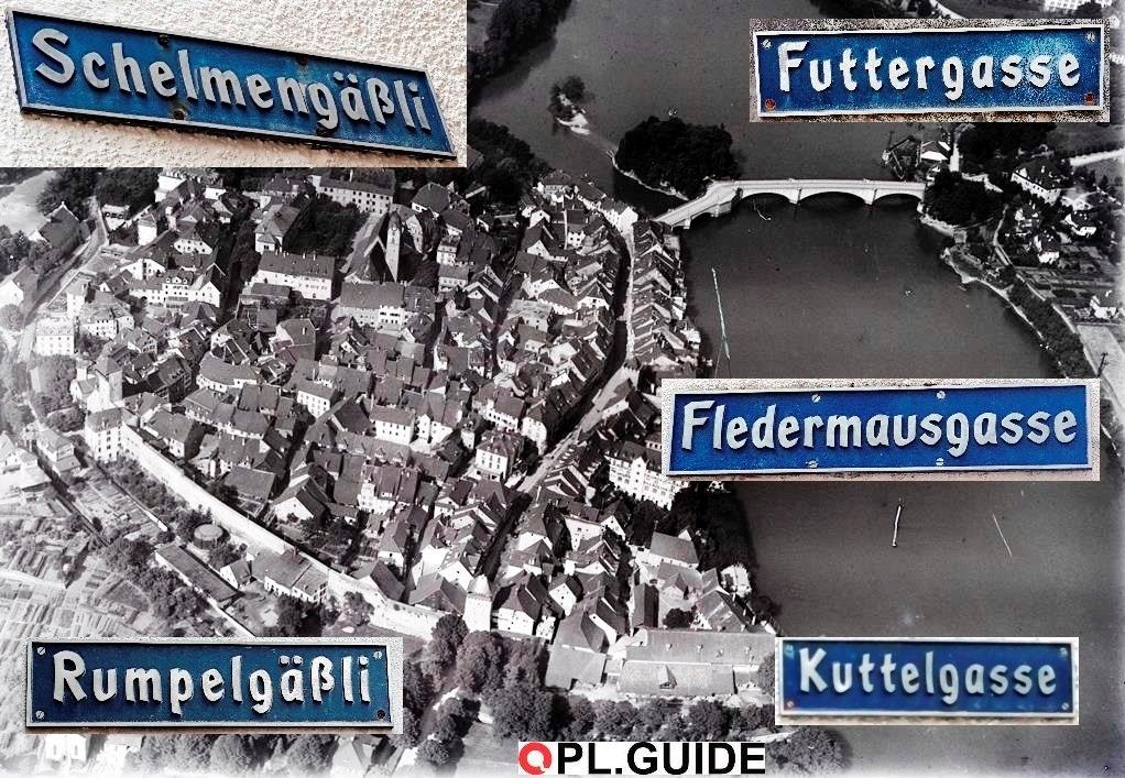 Die sind voll lustig, die Schweizer … bei solchen Straßennamen in Rheinfelden
