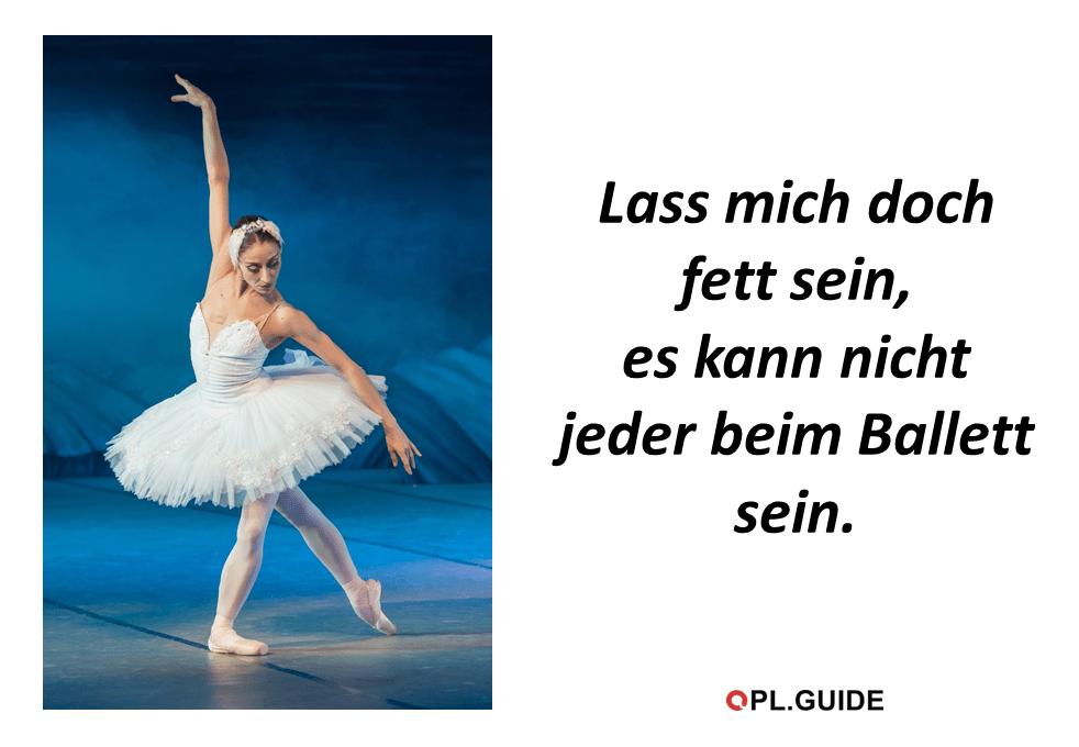 Ich mag sowieso kein Ballett …