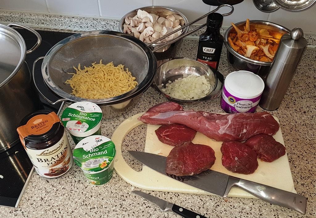 Filet-Geschnetzeltes vom Rind und Schwein