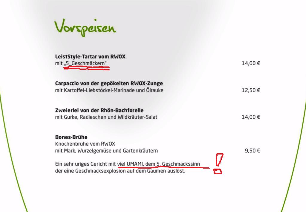 """Nachtrag zur Marginalie 44: """"Glutamat oder Arroganz und/oder Dummheit der abendländischen Küche"""""""
