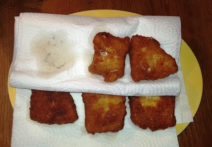 Fischstäbchen, Kabeljau, Seelachs, Rotbarsch, Skrei, Fischfilet, Seefisch, Fisch, panieren, Panade, Kartoffelsalat
