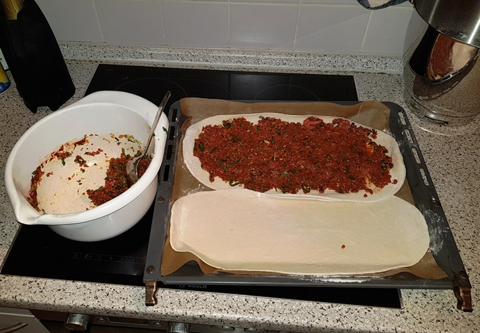 Lahmacun, Türkei, Pizza, Teigfladen
