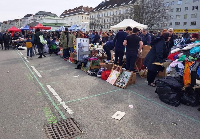 Wien, Naschmarkt, Flohmarkt, Wienzeile,