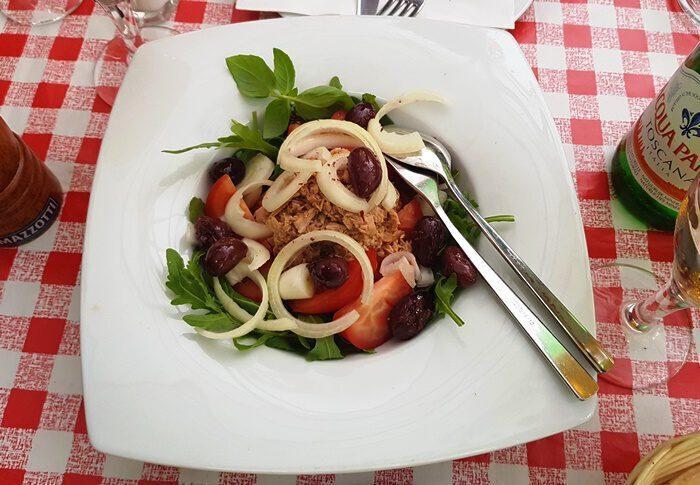 La Casina Rosa, Dresden, Sachen, Italiener, Italienisches Restaurant, Salat
