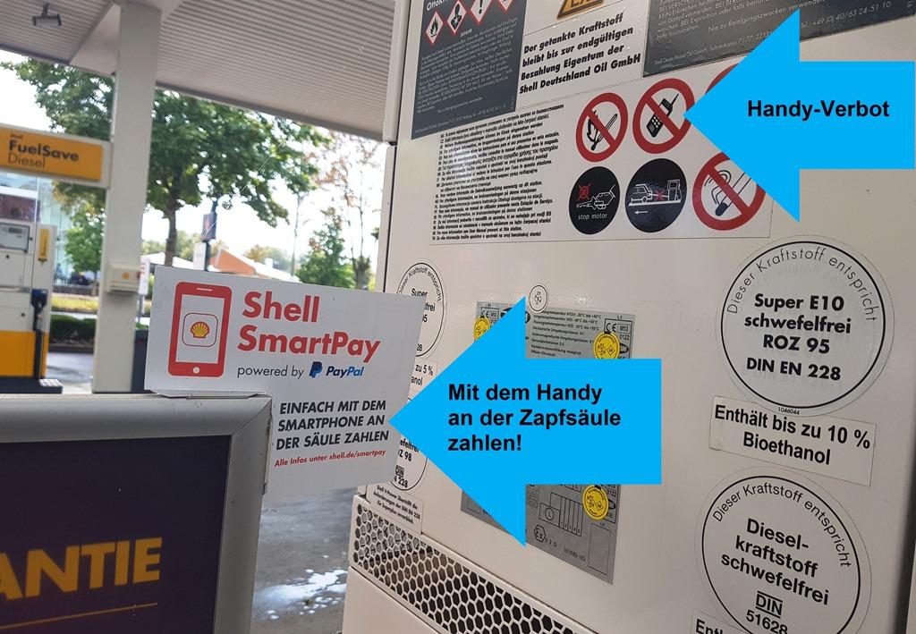 Neulich, an der Shell-Tankstelle …