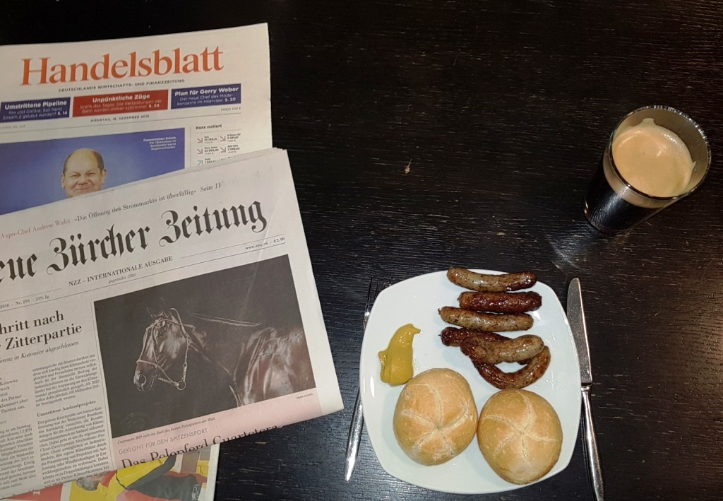 Red Eye Bomber Breakfast am Flughafen