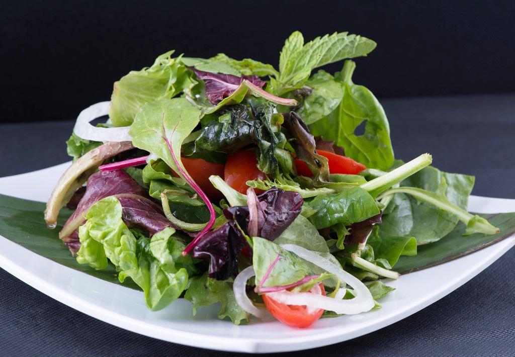 Wildsalate mit Senf-Honig-Dressing