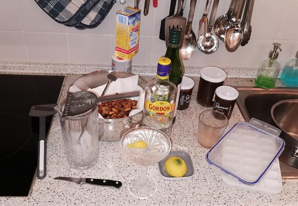 Arbeits-Martini beim Rehrücken-Braten