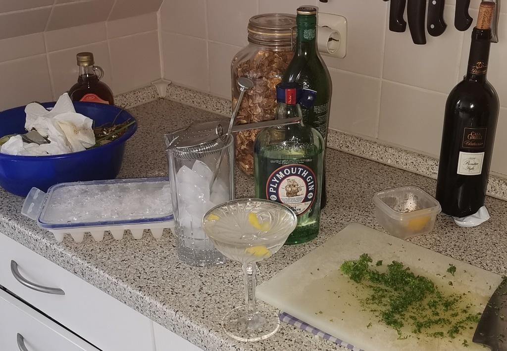 Martini beim kochen