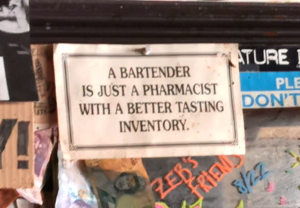 Nochmal kluger Barkeeper …