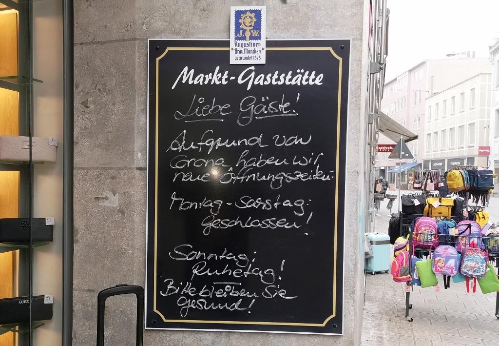 Neulich am Augsburger Stadtmarkt: das Virus geht mir auf den Senkel.