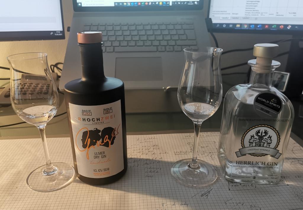 Neu-Ulm gegen Ulm: Herrlich London Dry Gin vs. Ginger Dry Gin